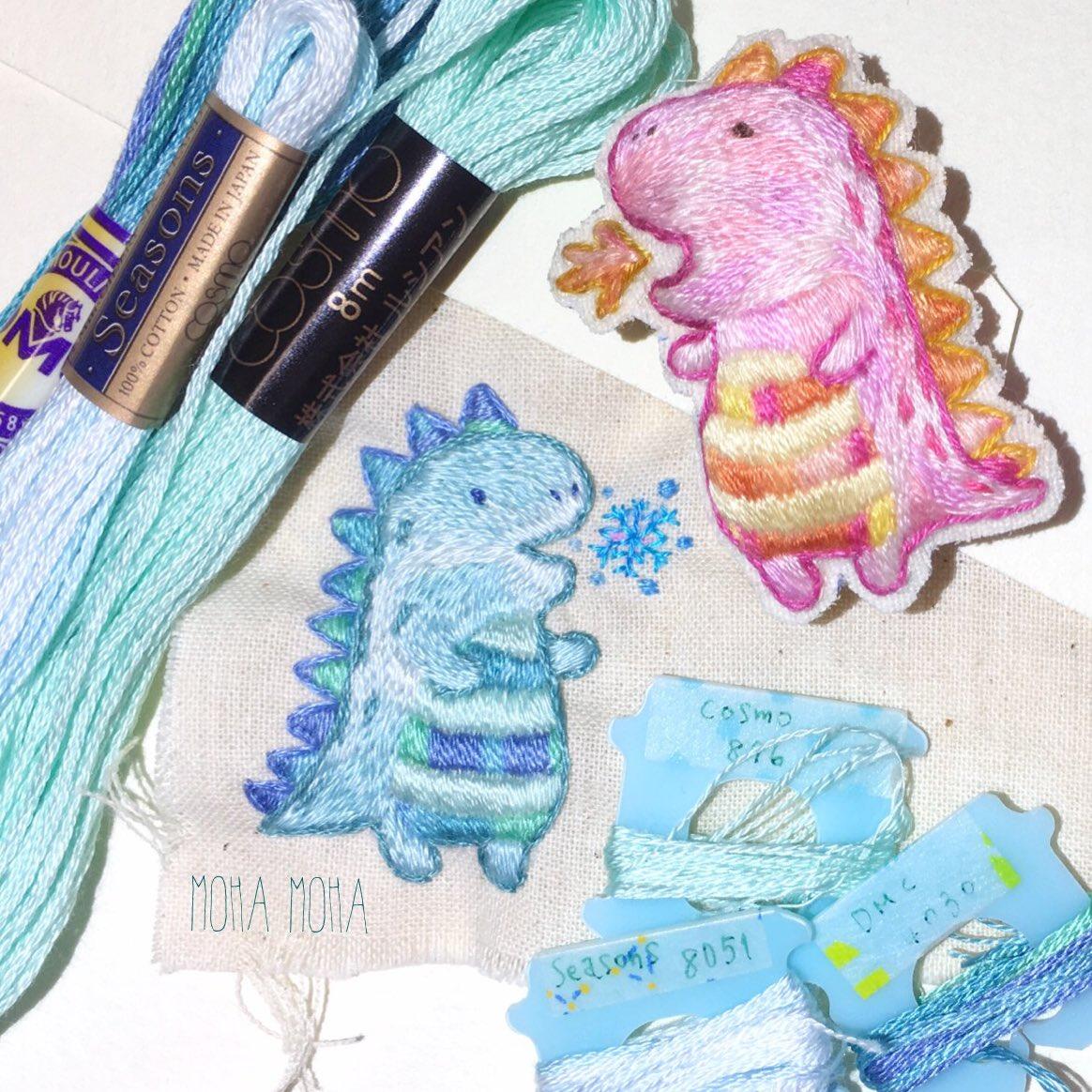 ほっこり手刺繍の世界♡ブローチ♡ピアス♡子供の絵♡