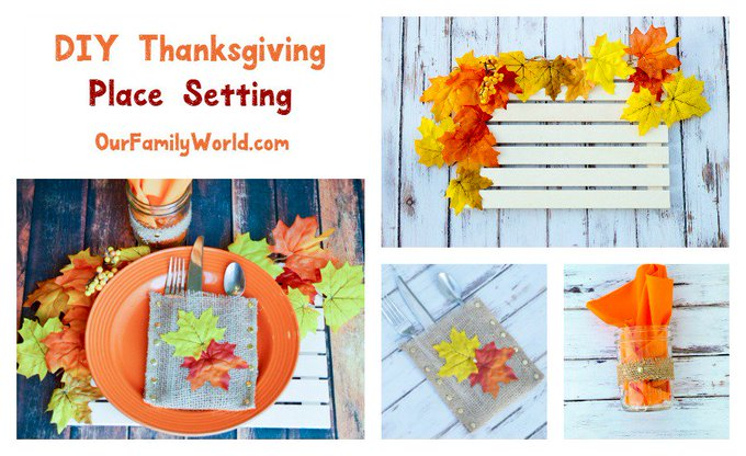 Learn how to DIY your way to a gorgeous & inexpensive Thanksgiving place setting!