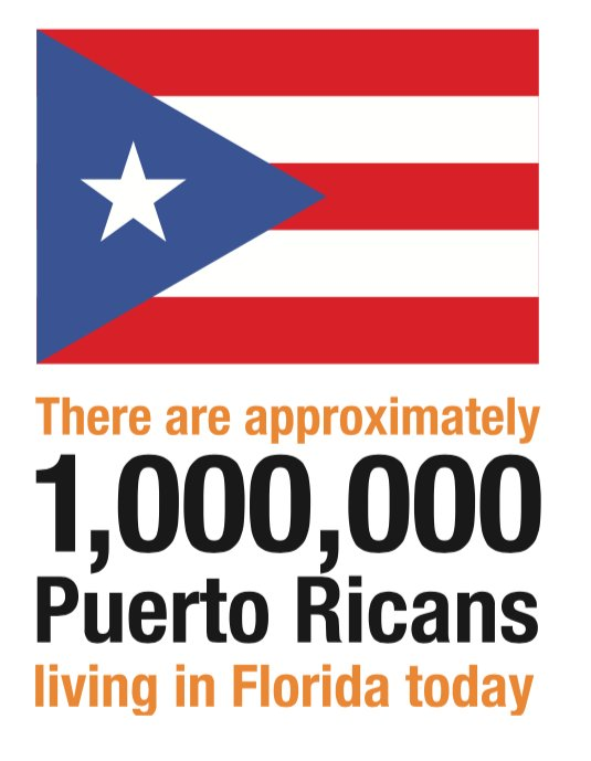 More than 1Million Puerto Ricans in Florida! Let's go out and VOTE! #QueVoteMiGente #AVotar #LATISM https://t.co/UJssiURwTw