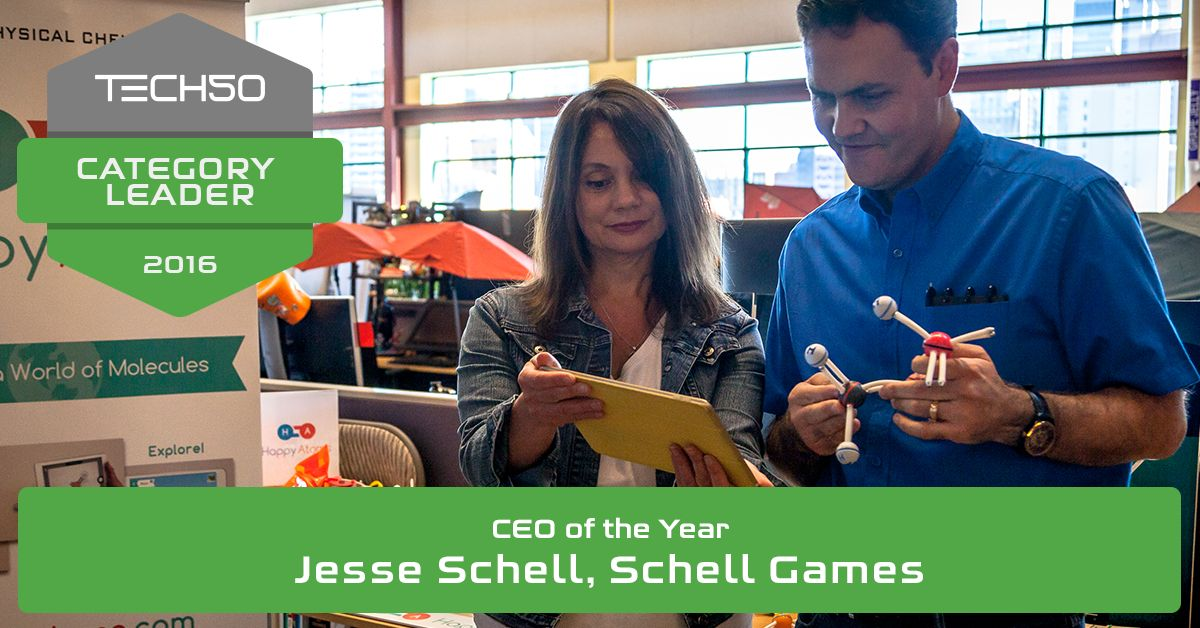 Congrats to #PGHTech50 Category Leader for CEO of the Year: Jesse Schell, @schellgames! https://t.co/BVPr0GNCdh