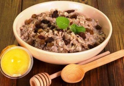 Oatmeal Cinnamon Porridge & Sultanas
