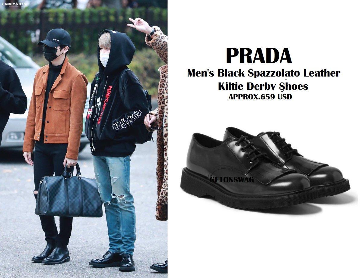 Spazzolato Leather Kiltie Derby Shoes