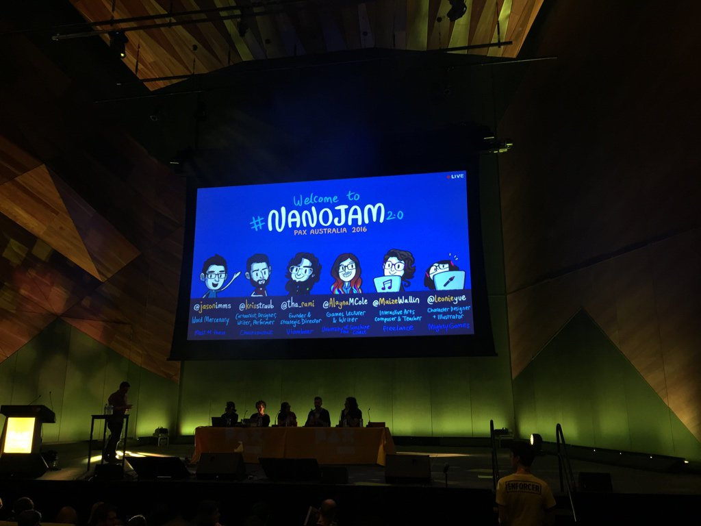 Yaaaaaayyyyyyy!!!! #NanoJam Totally the best Panel to be at!!! #PAXAUS #FB https://t.co/mWjei2XHpA