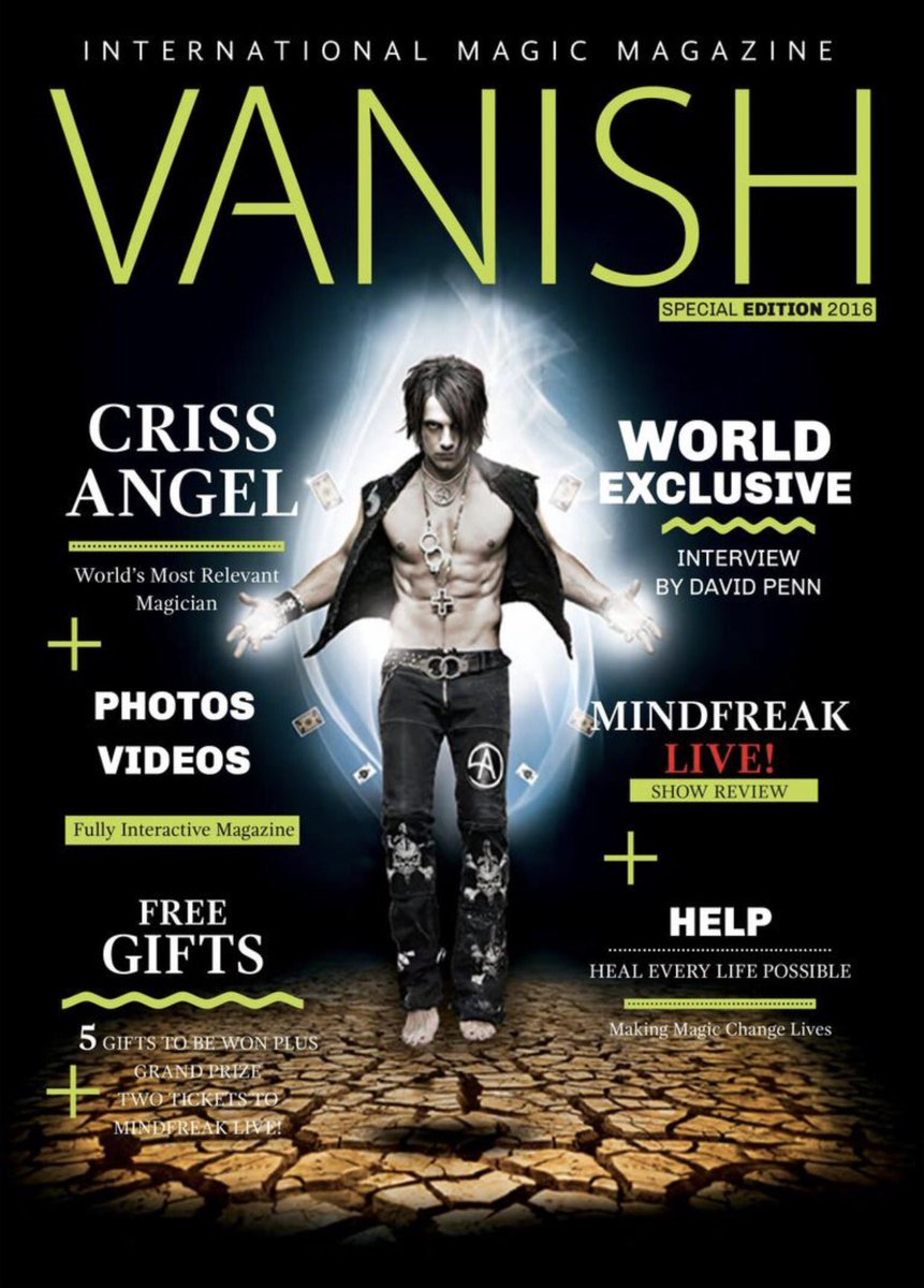 Vanish magazine criss angel special edition drm protected ebook.