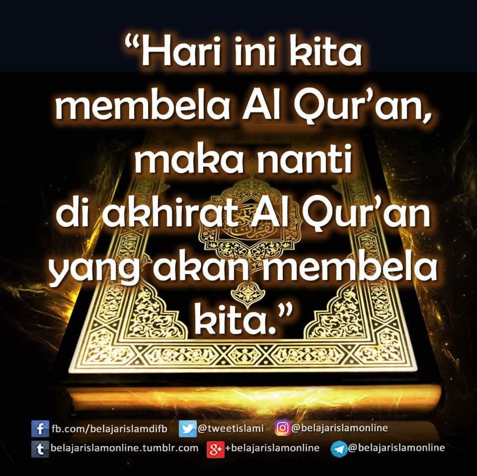 """Hari ini kita membela Al-Quran, maka nanti di akhirat Al-Quran yang akan membela kita"" https://t.co/XELPNFOoiQ"