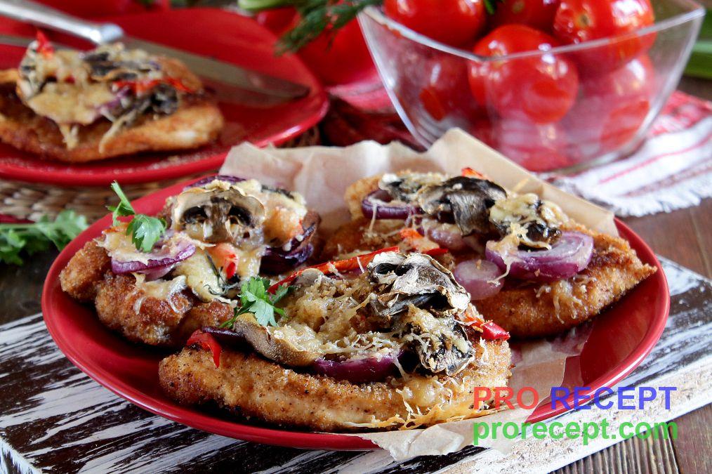 Рецепт курица грибы с луком сметана