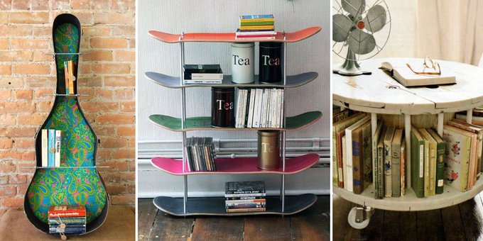 15 Crazy Creative DIY Bookshelves