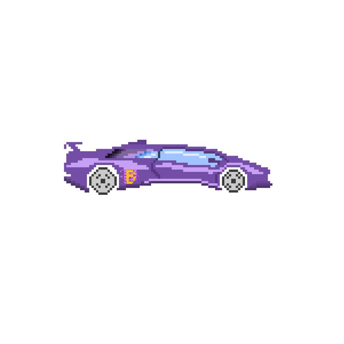 Superbrick On Twitter Purple Lambo Pixelart Pixel Art