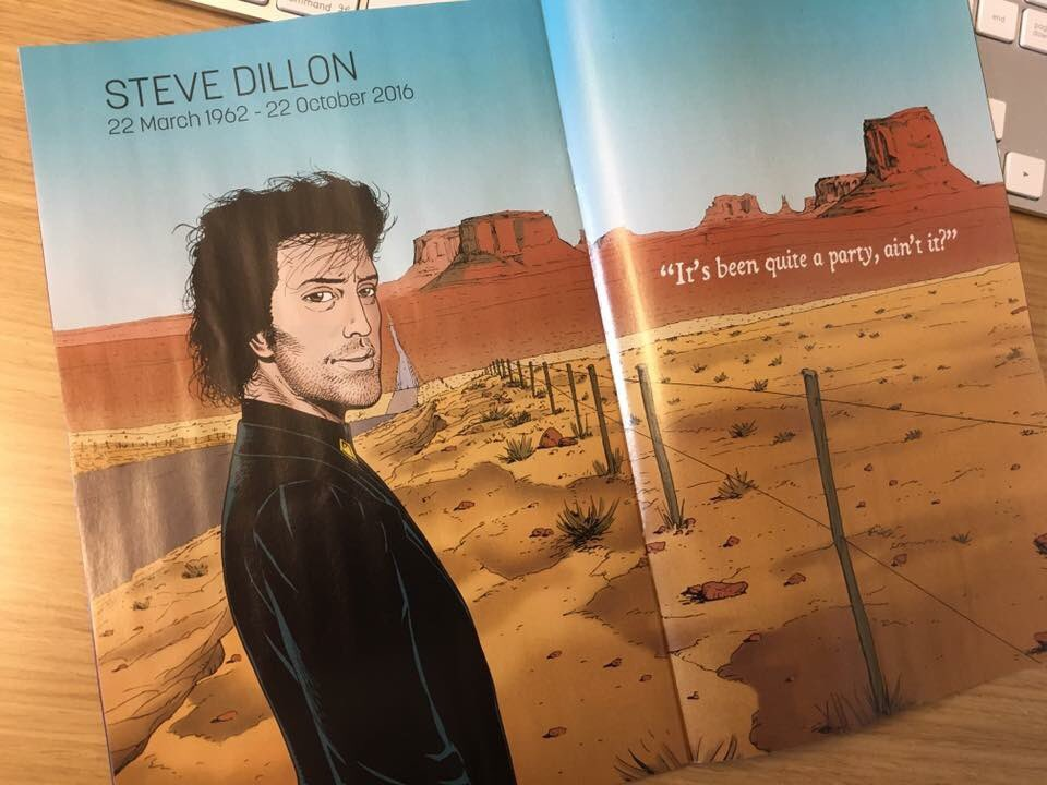 There's a tribute to Steve Dillon in all DC Comics. (Thanks to Steve Cook for the heads up) https://t.co/gY6WNM0hxL
