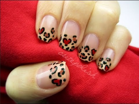 Heart Leopard Nail Art CutePolish Beauty Nails -