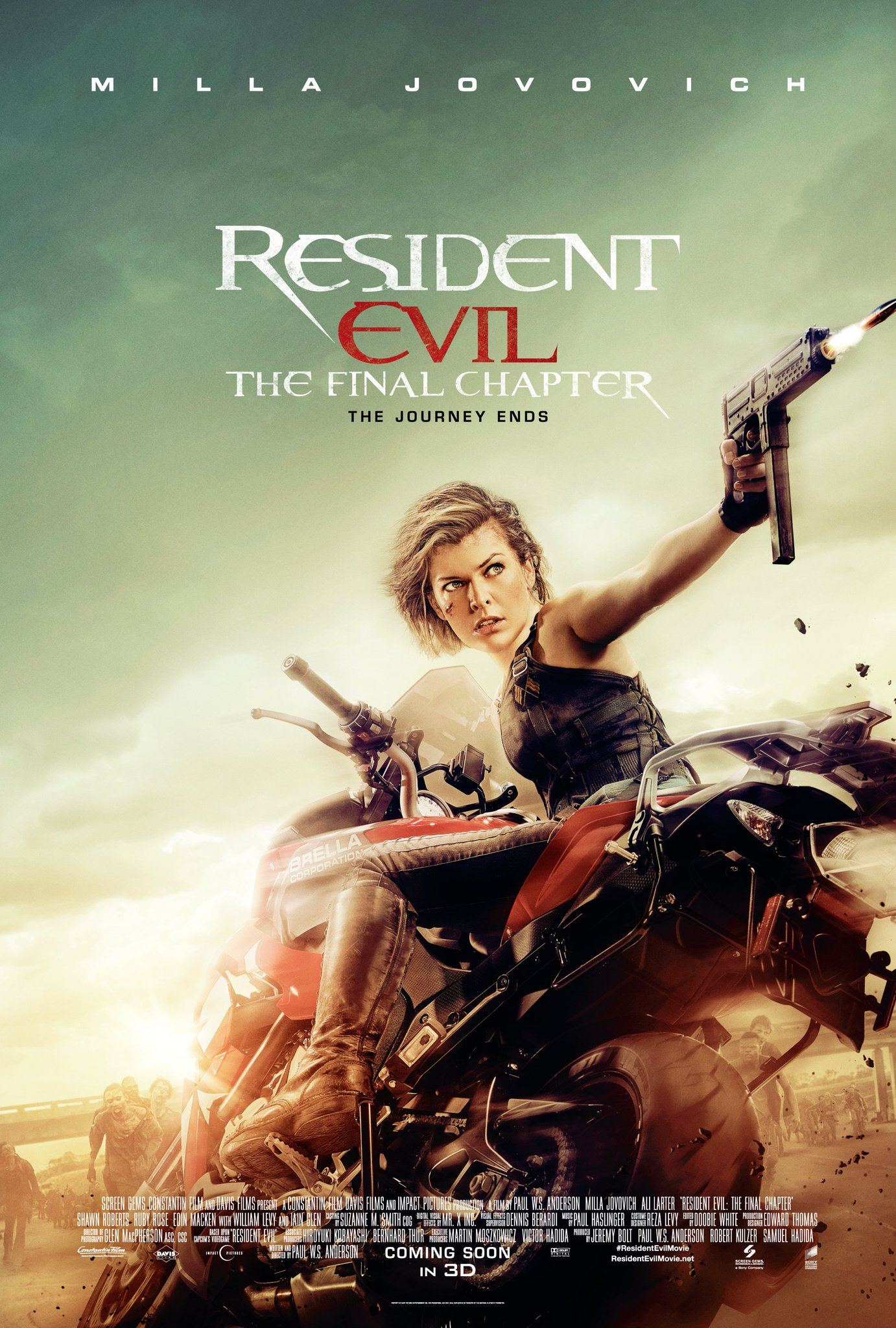 Stoneoneprojekt Resident Evil The Final Chapter Nowe