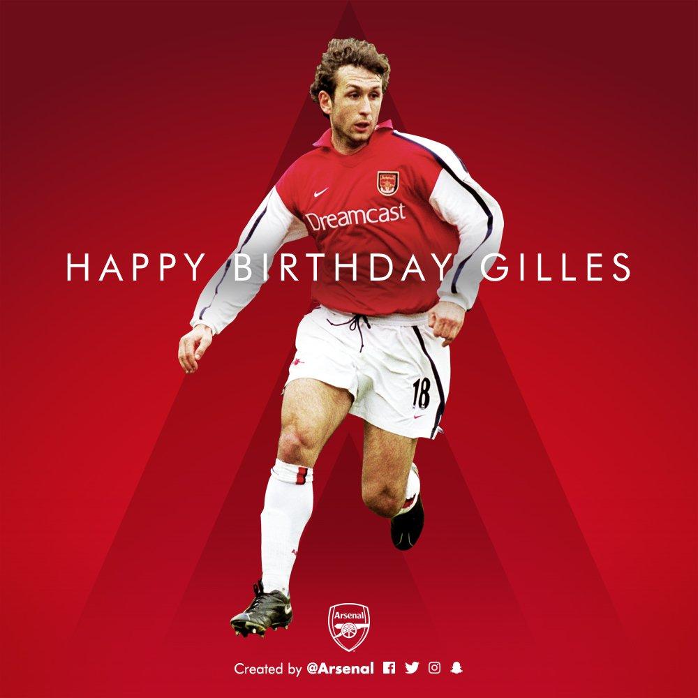 Arsenal Fc On Twitter Joyeux Anniversaire Gilles