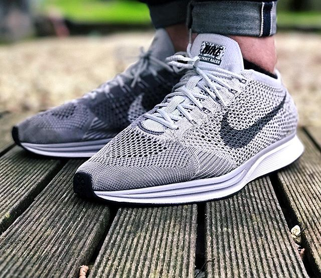 7a95df3bb22e ... real nike flyknit racer blackout finish line never miss a moment .