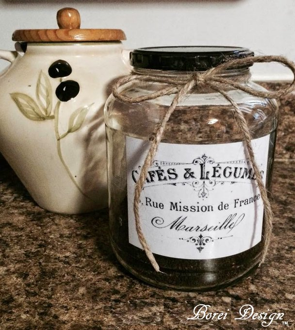 Transform an old jar into vintage French storage kitchen decor diy crafts tutorial