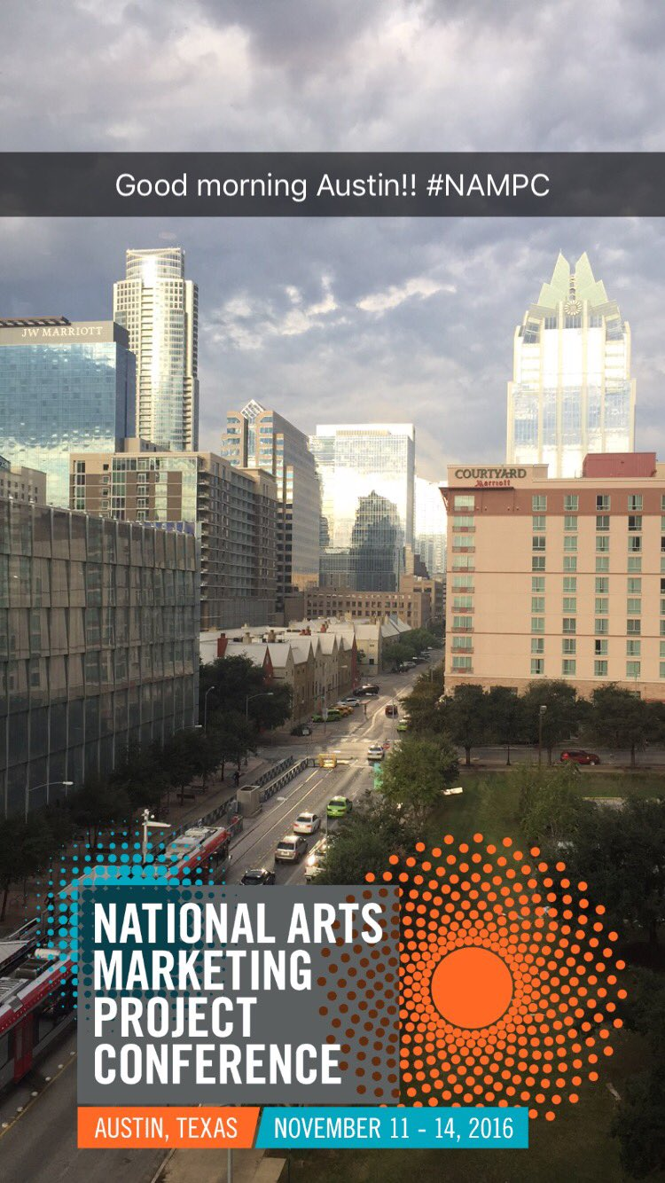 Good morning #NAMPC! See you soon! @artsmarketers https://t.co/tbkZxoVBdj