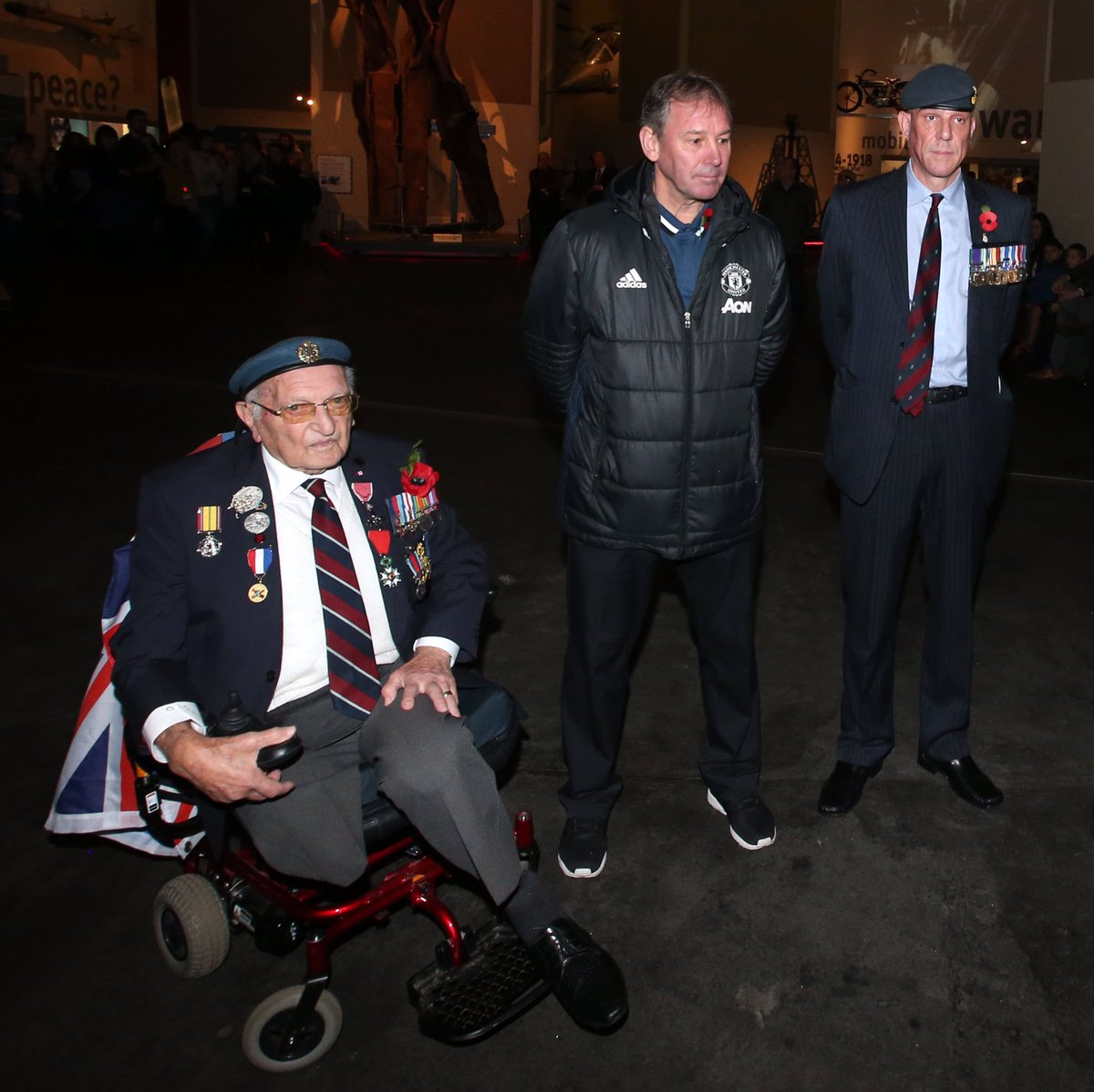 An honour to remember and mark #ArmisticeDay at the @IWMNorth and meet some of our amazing war veterans today.