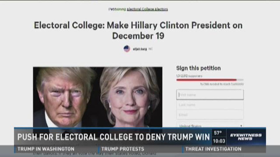 #VIDEO: Push for Electoral College to deny Trump win http://dlvr.it/Mdw8Fn