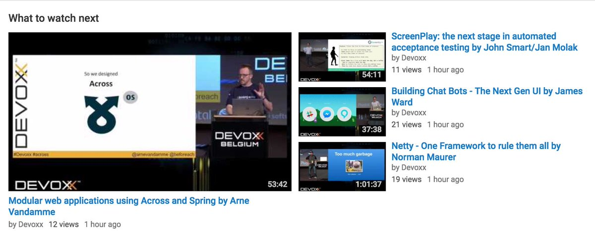 All the recorded Devoxx Belgium 2016 presentations are now online available @ https://t.co/Zh1Gy0DkDo  #Enjoy https://t.co/b6nMOABrTO