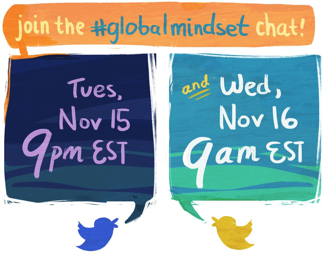 Celebrate International Education Week and join #issedu and @growingupglobal on Tues 9pm and Wed 9am EST for twitterchats on #globalmindset! https://t.co/dFlU5kN0LR
