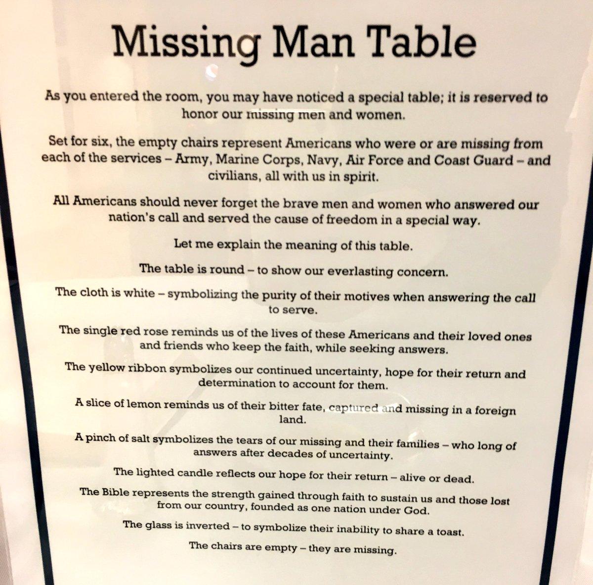 photo about Missing Man Table Poem Printable named 95 POW Desk POEM