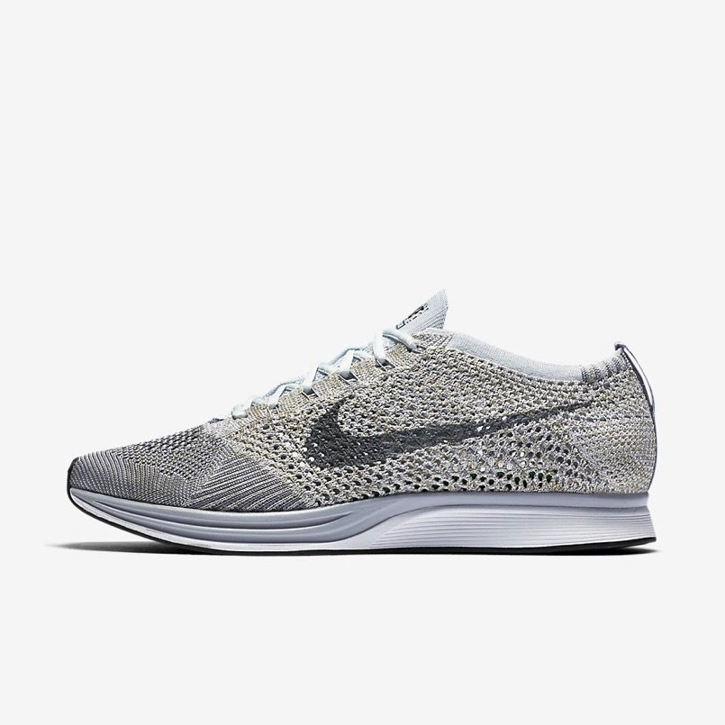 """online store 51a5c 64c88 """"Pure Platinum"""" Nike Flyknit Racer on Foot Locker Link ..."""