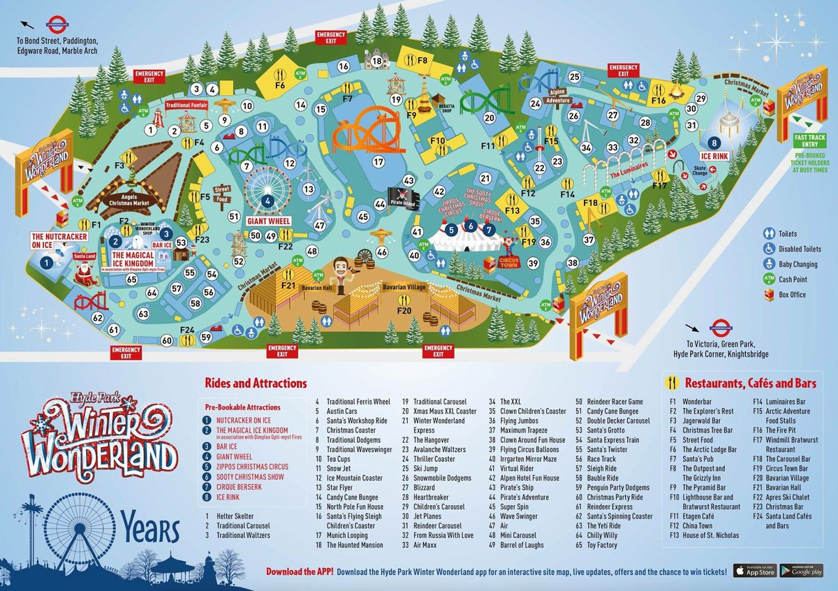 Winter Wonderland on Twitter Check out the new map for Hyde Park