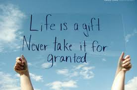 """Life is a gift, never take it for granted""   #ThankfulNovember #thankfulquote #FridayFeeling<br>http://pic.twitter.com/4uJAGiRDhm"