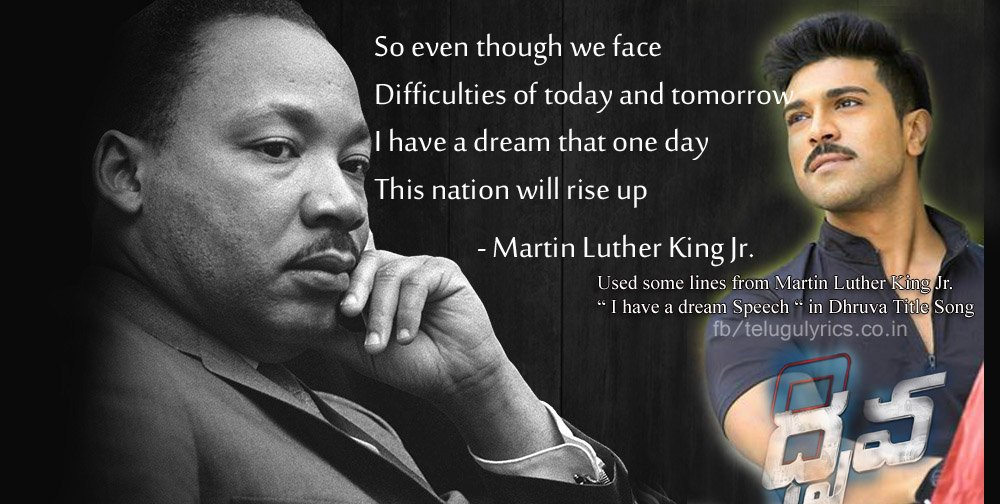Telugu Lyrics On Twitter Used Some Lines From Marting Luther King
