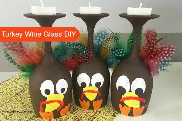 Turkey Wine Glass DIY crafts diy thanksgiving