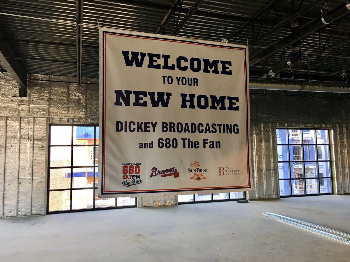 Part of our BIG announcement today is our studios will be moving to the @BatteryATL @Braves https://t.co/Gr9Mhlznin