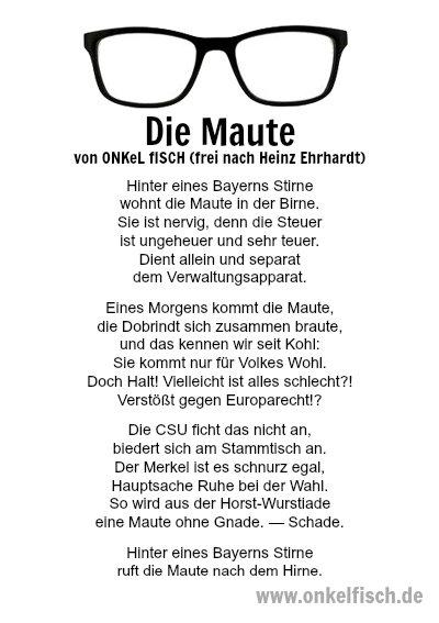 Heinz erhardt gedicht fisch