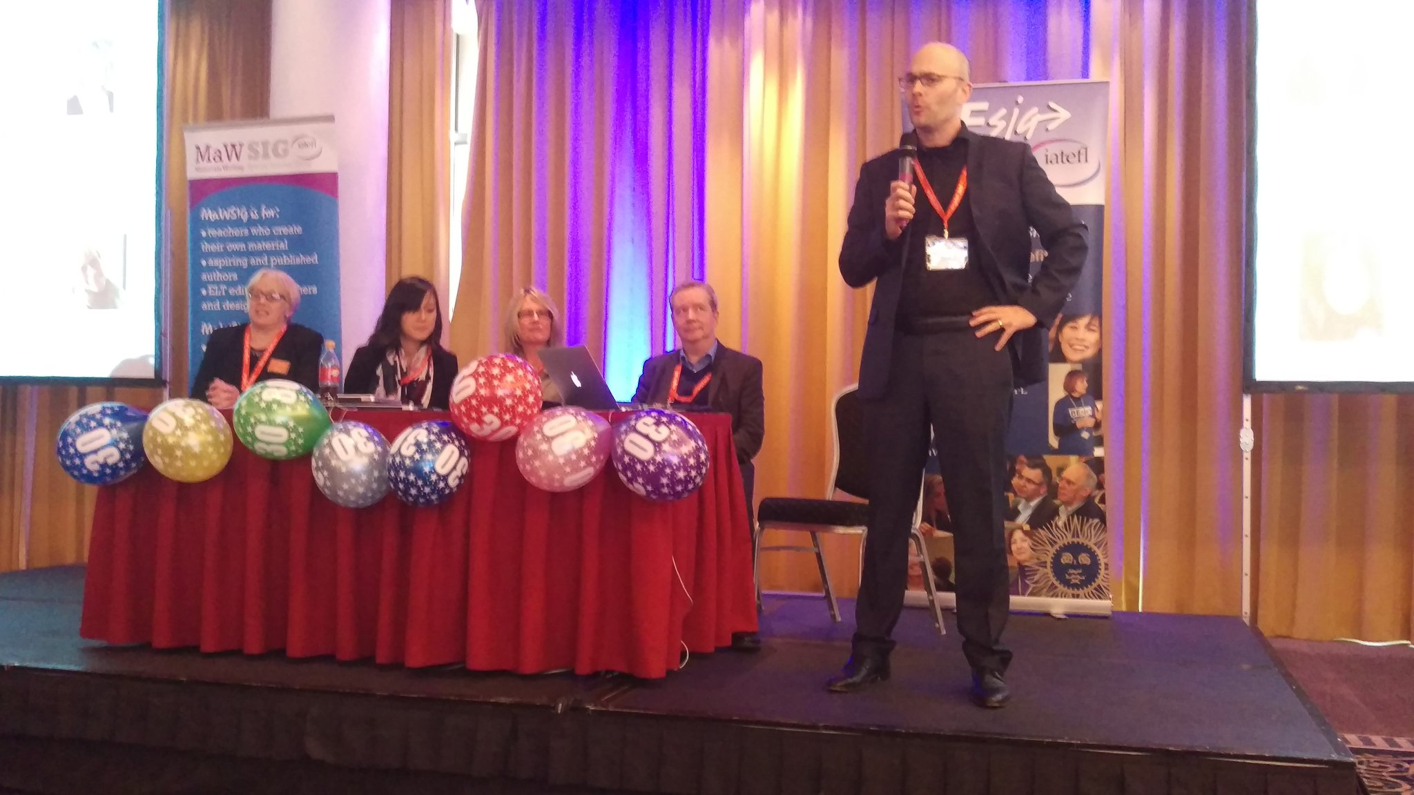 30th Anniversary of @iatefl_besig  Launching the Annual Conference in #Munich #IATEFL #BESIG #MAWSIG https://t.co/7NLWYFB8Fs