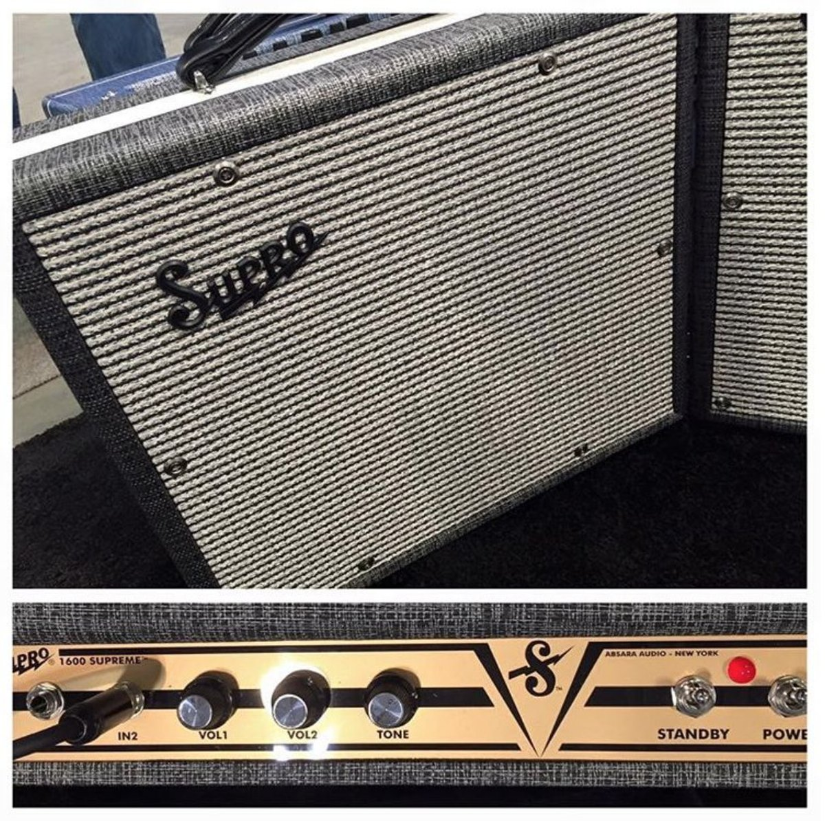 One of the latest cool amps from @SuproUSA the ⚡️ Supreme ⚡️ @GuitarWorldNews @mhall55nine @rwyjunior @ProGuitarShop https://t.co/qULVbAn8b9