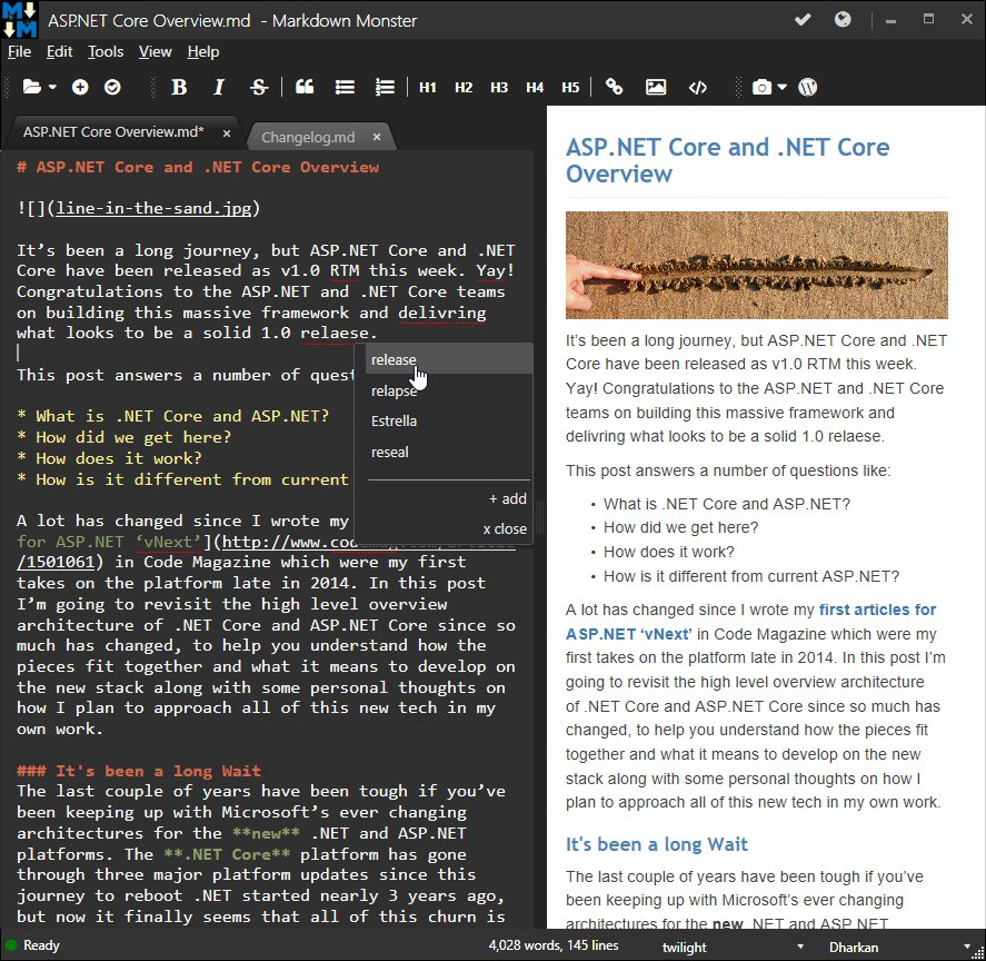 Blogged: Introducing Markdown Monster 1.0 - a new Markdown Editor https://t.co/Myu7sb6wks https://t.co/x43hz1SugH