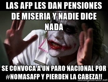 La convocatoria a protesta por #NoMasAFP... resumida en momos!!