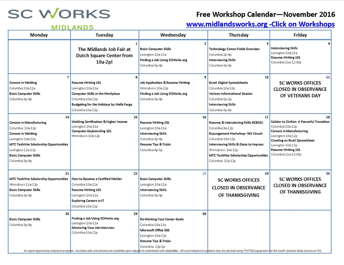 Sc Works Midlands On Twitter Free Workshop Today Resume Writing