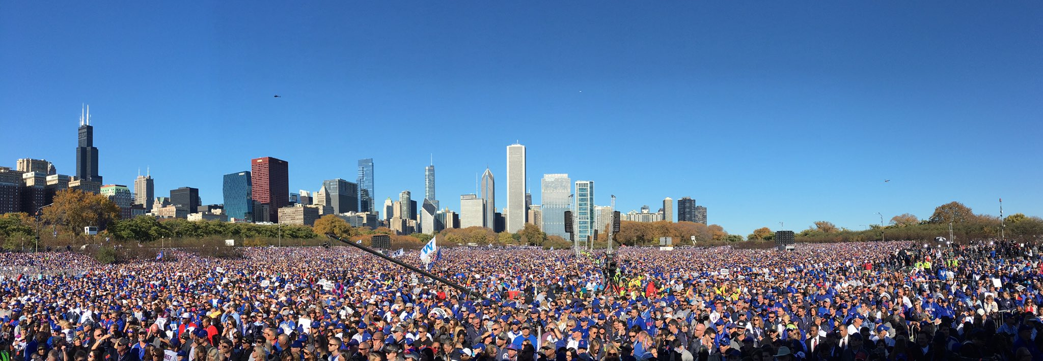 5 million Chicago Cubs fans celebrate the first World Series victory in their lifetimes.