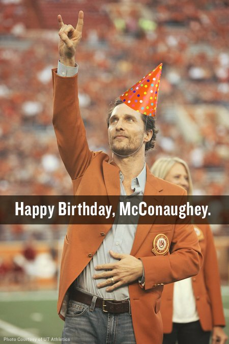 Happy birthday, @McConaughey!