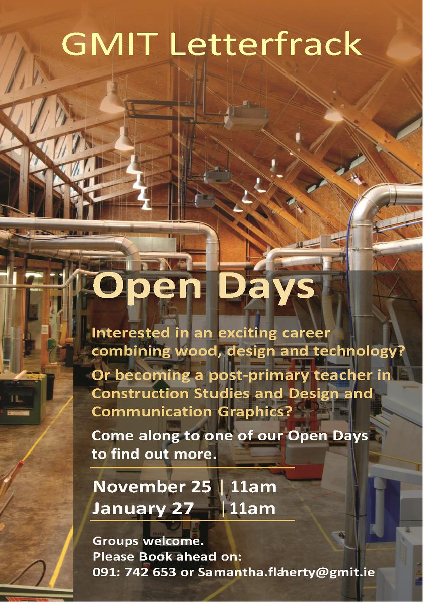 gmit letterfrack on twitter want to know more about the exciting gmit letterfrack on twitter want to know more about the exciting career options as a graduate of gmit letterfrack come along to our open day