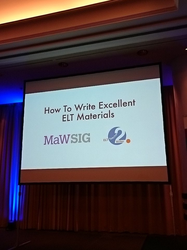 Time for our Pre-conference seminar: 'How to write excellent #ELT materials' Follow along using #MaWSIG and #BESIG @iatefl_besig https://t.co/OT9vfaCL4i