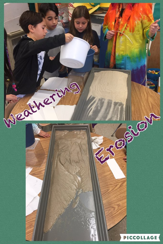 Stream Tables with Ms. O'Neill...experiencing weathering & erosion first hand! @Ivysherman #seamanstrength https://t.co/QZYy9coyYW