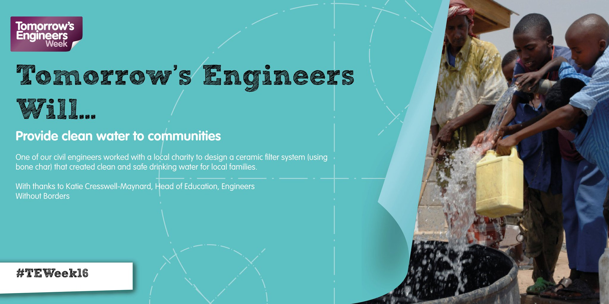 How can engineering give clean water to people across the world? Thanks for the answer @ewbuk #TEWeek16 https://t.co/i7QVPQnM51