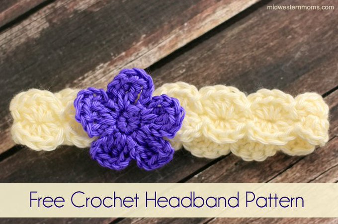 Simple flower crochet headband pattern! DIY crochet crafts