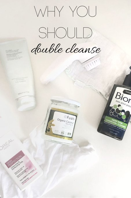 Why you should double cleanse, up on the blog! skincare bbloggers