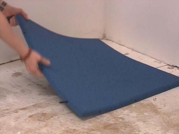 These instructions will tell you exactly what's needed for this DIY rubber tile floor.