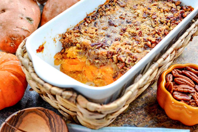 Sweeten Up Thanksgiving Dinner w/ Pecan Topped Sweet Potatoes ://