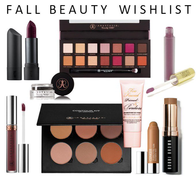 FALL BEAUTY WISHLIST bbloggers beautyblogger