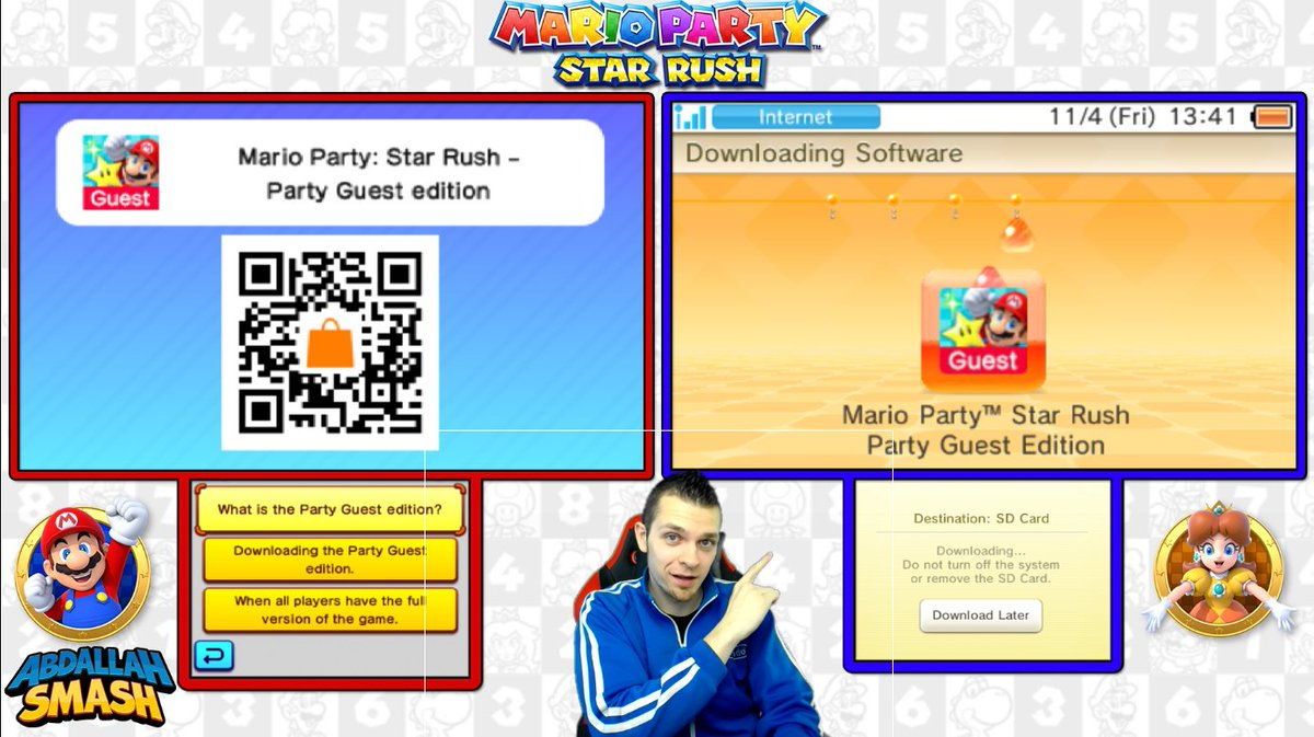 Abdallah On Twitter In Mariopartystarrush You Can Play Local Multiplayer With Only 1 Cartridge Just Scan This Qr Code On The Nintendo Eshop Download Ad Https T Co 8bbjixwjd6