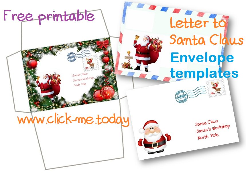 Click meday on twitter free printable amazing letter to santa free printable amazing letter to santa claus envelope template craft xmas christmas santa lettertosanta m4hsunfo