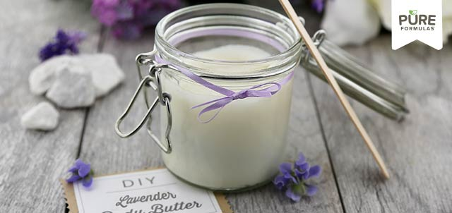 Nourish your skin this fall with this DIY Soothing Lavender Body Butter!